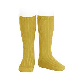 CONDOR Curry Ribbed Knee Socks