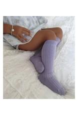 CONDOR Lavender Ribbed Knee Socks
