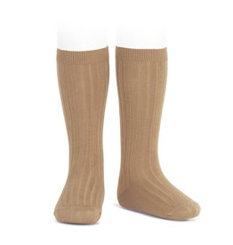CONDOR Camel Rib Knee High Socks