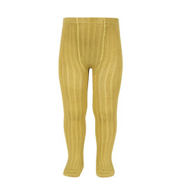 CONDOR Mustard Ribbed Tights
