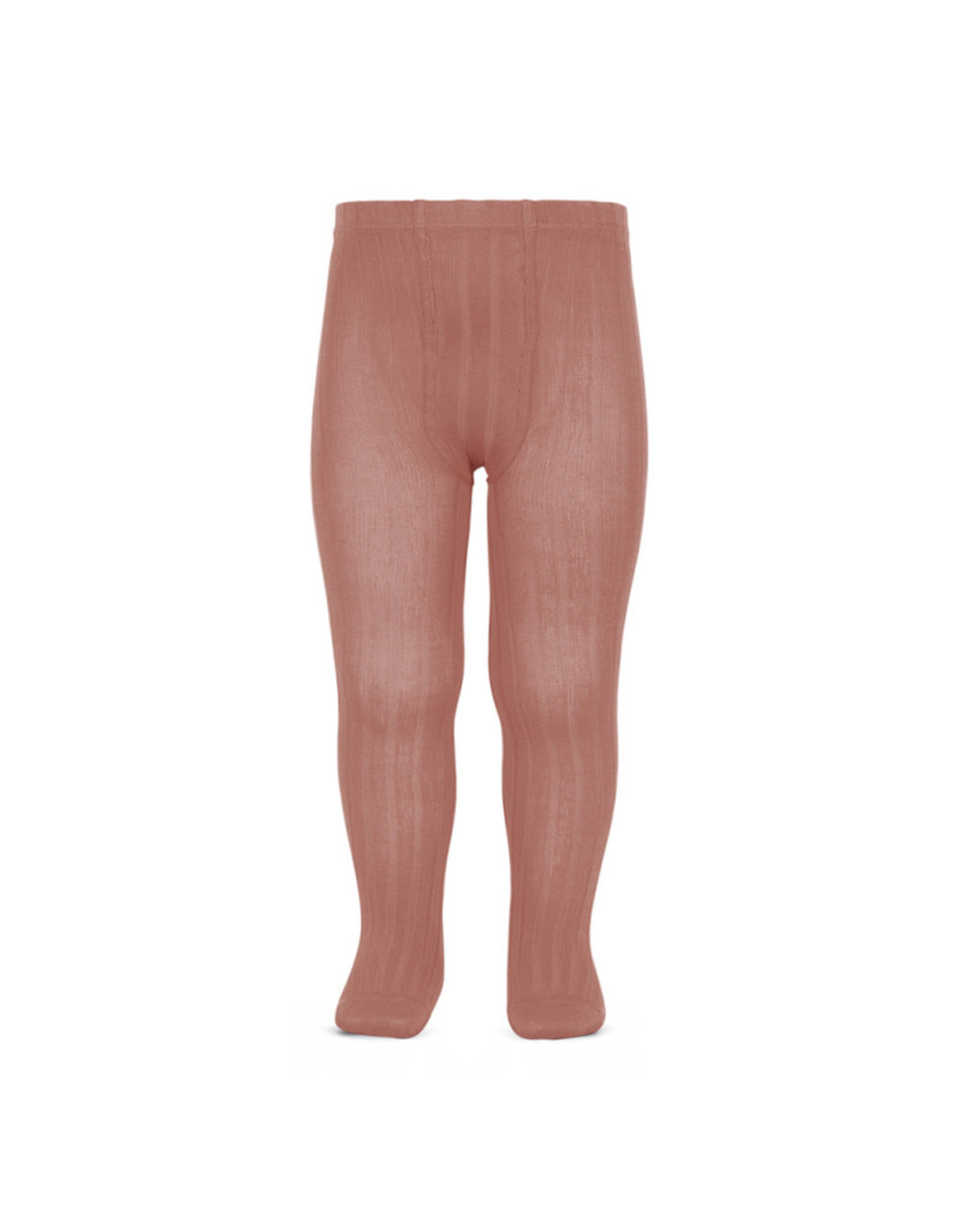 CONDOR Terracotta Ribbed Tights