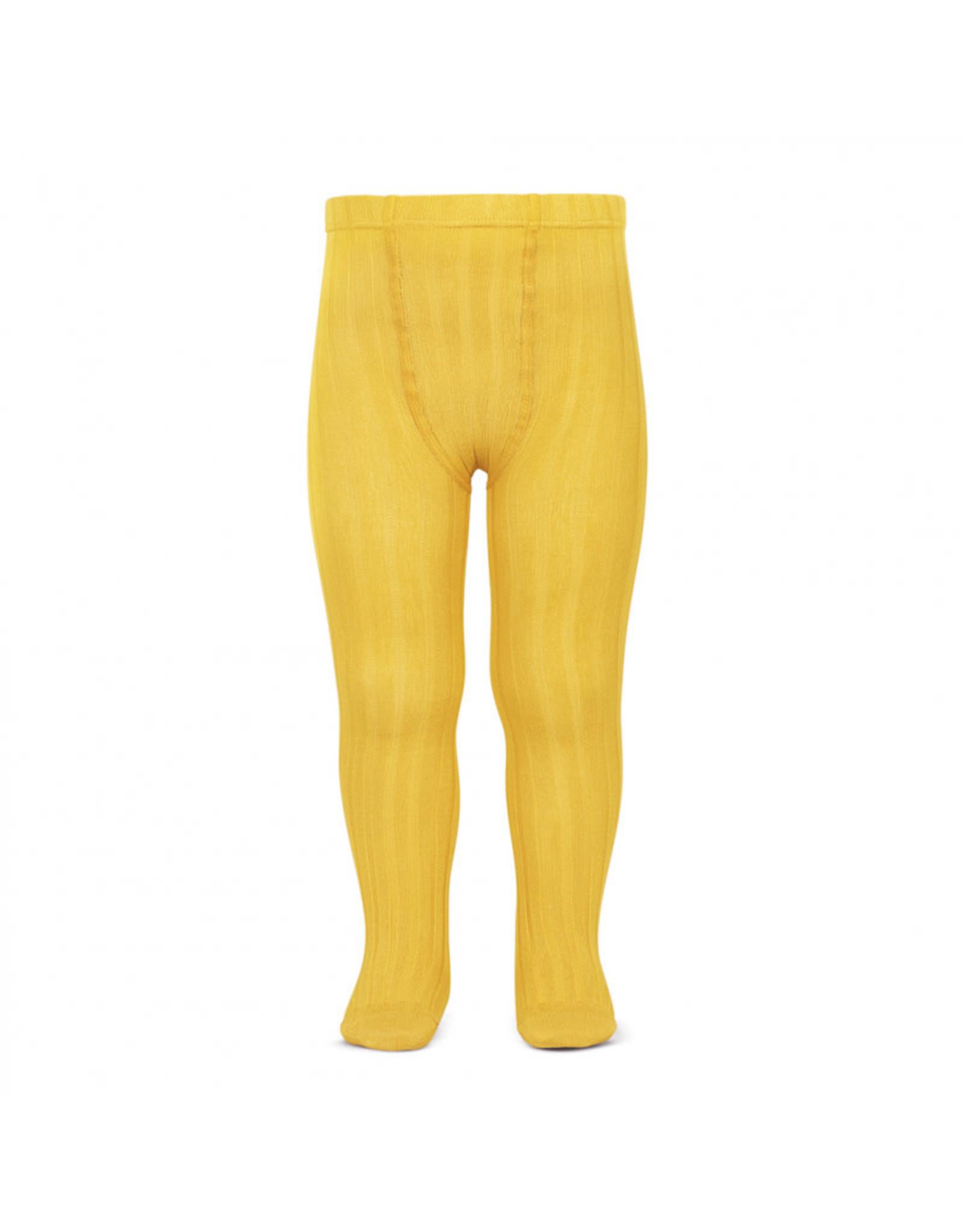CONDOR Yellow Ribbed Tights