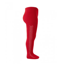 CONDOR Red Side Openwork Tights