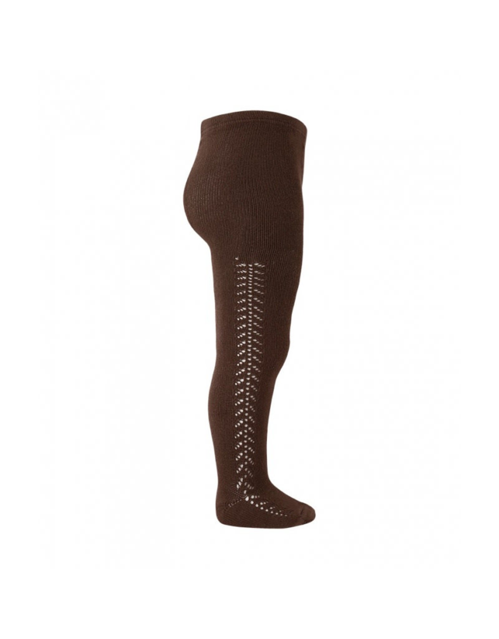 CONDOR Brown Side Openwork Tights