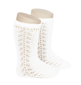 CONDOR White Warm Side Openwork Socks