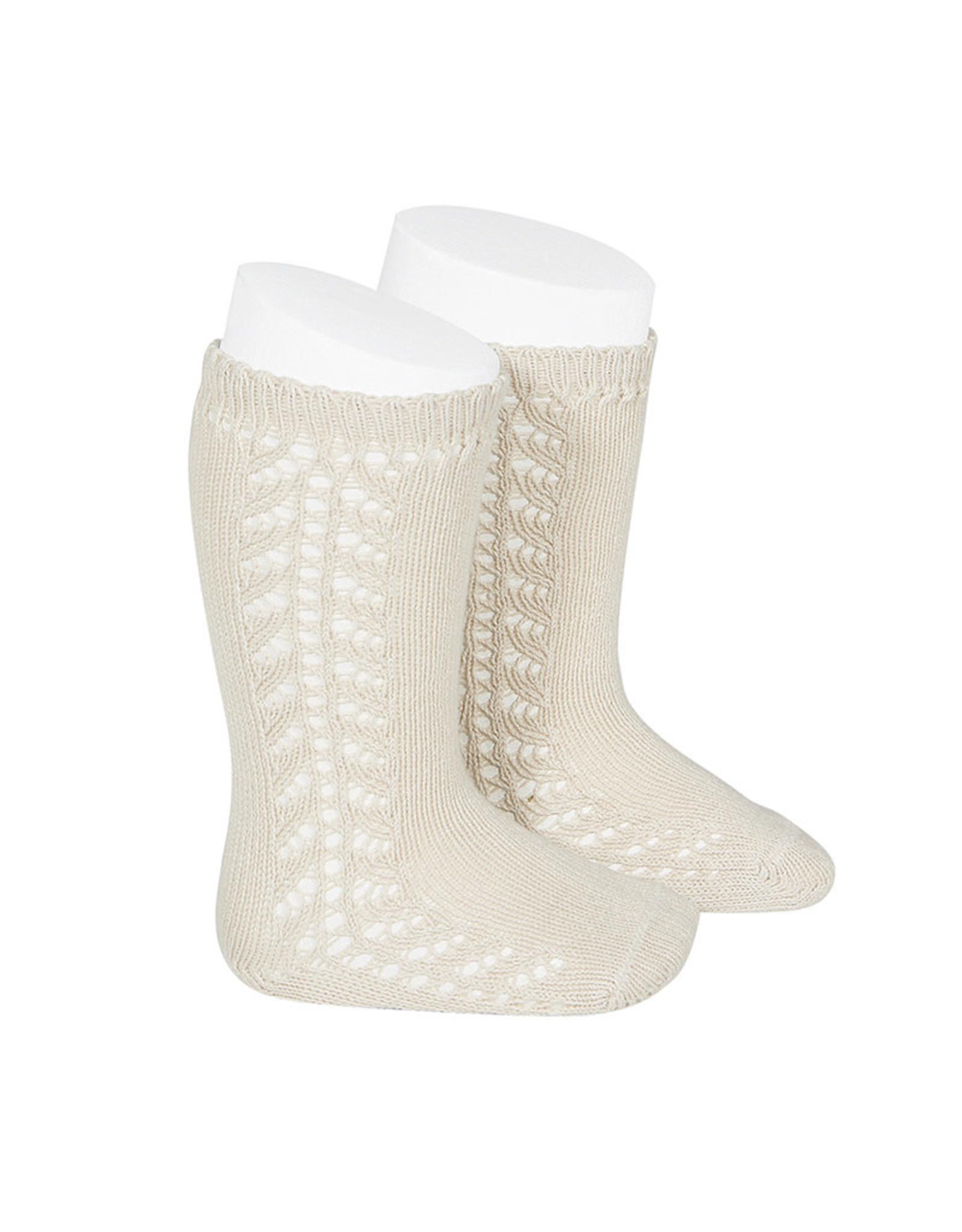 CONDOR Linen Warm Side Openwork Socks