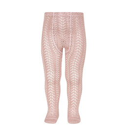 CONDOR Pale Pink Full Openwork Tights