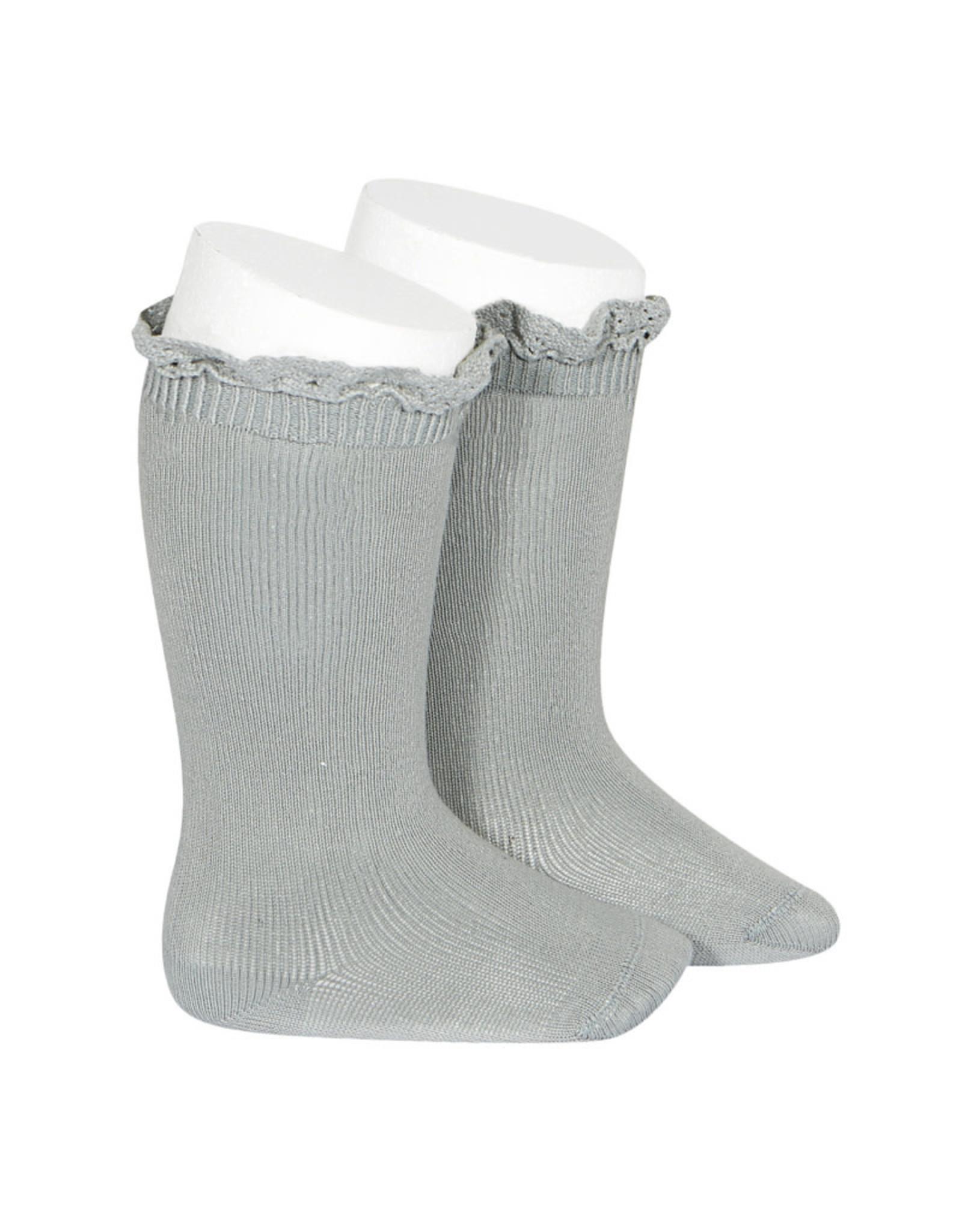 CONDOR Dry Green Lace Edging Knee Socks