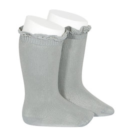CONDOR Dry Green Lace Edging Knee Socks