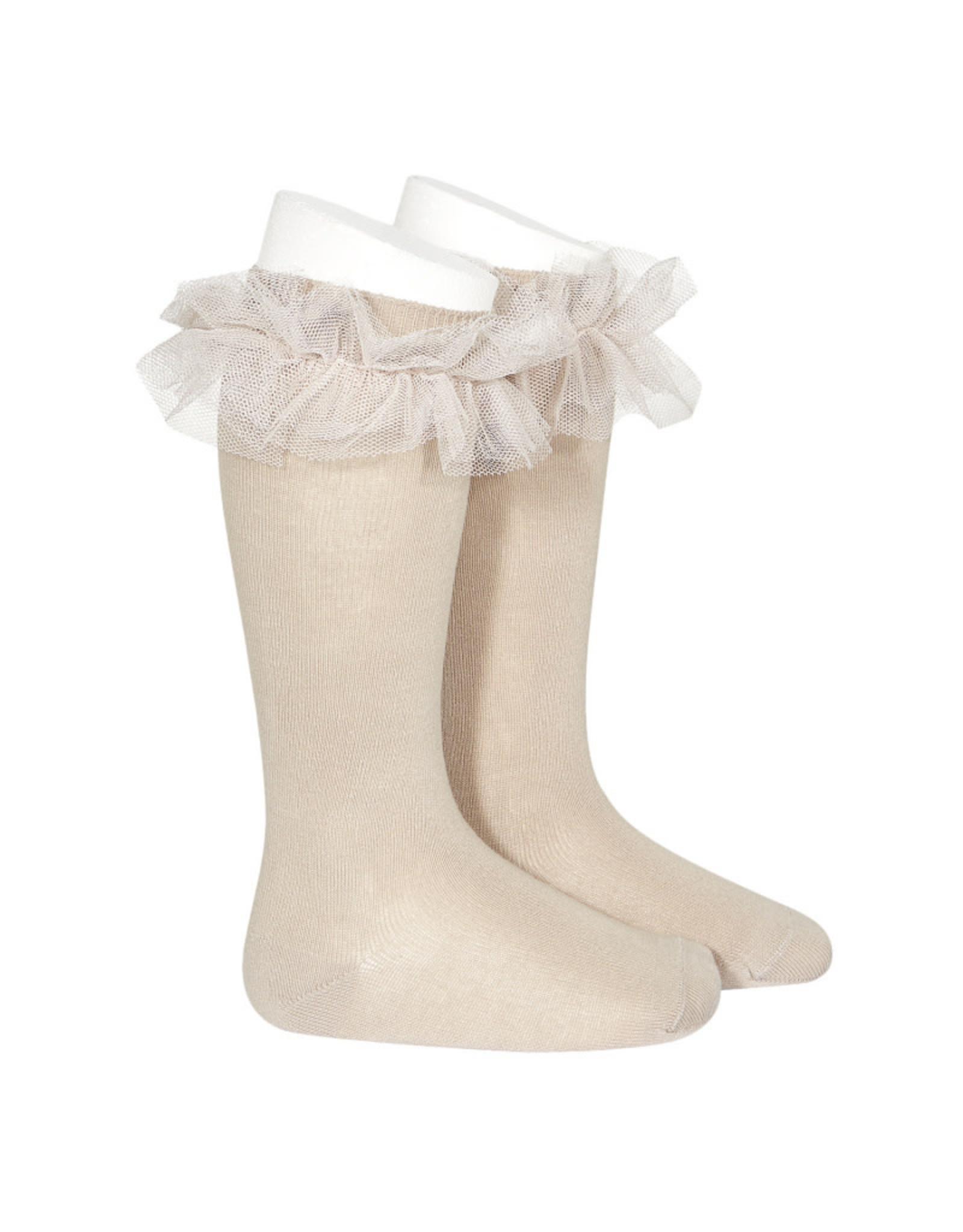 CONDOR Stone Tulle Knee Socks