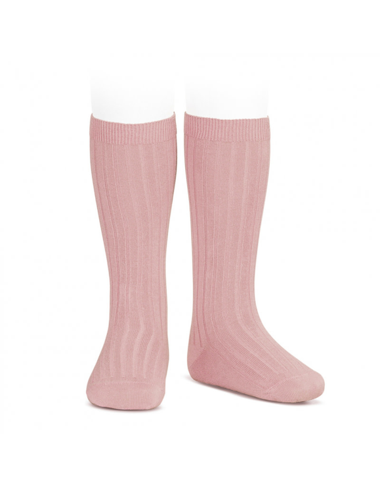 CONDOR Pale Pink Ribbed Knee Socks