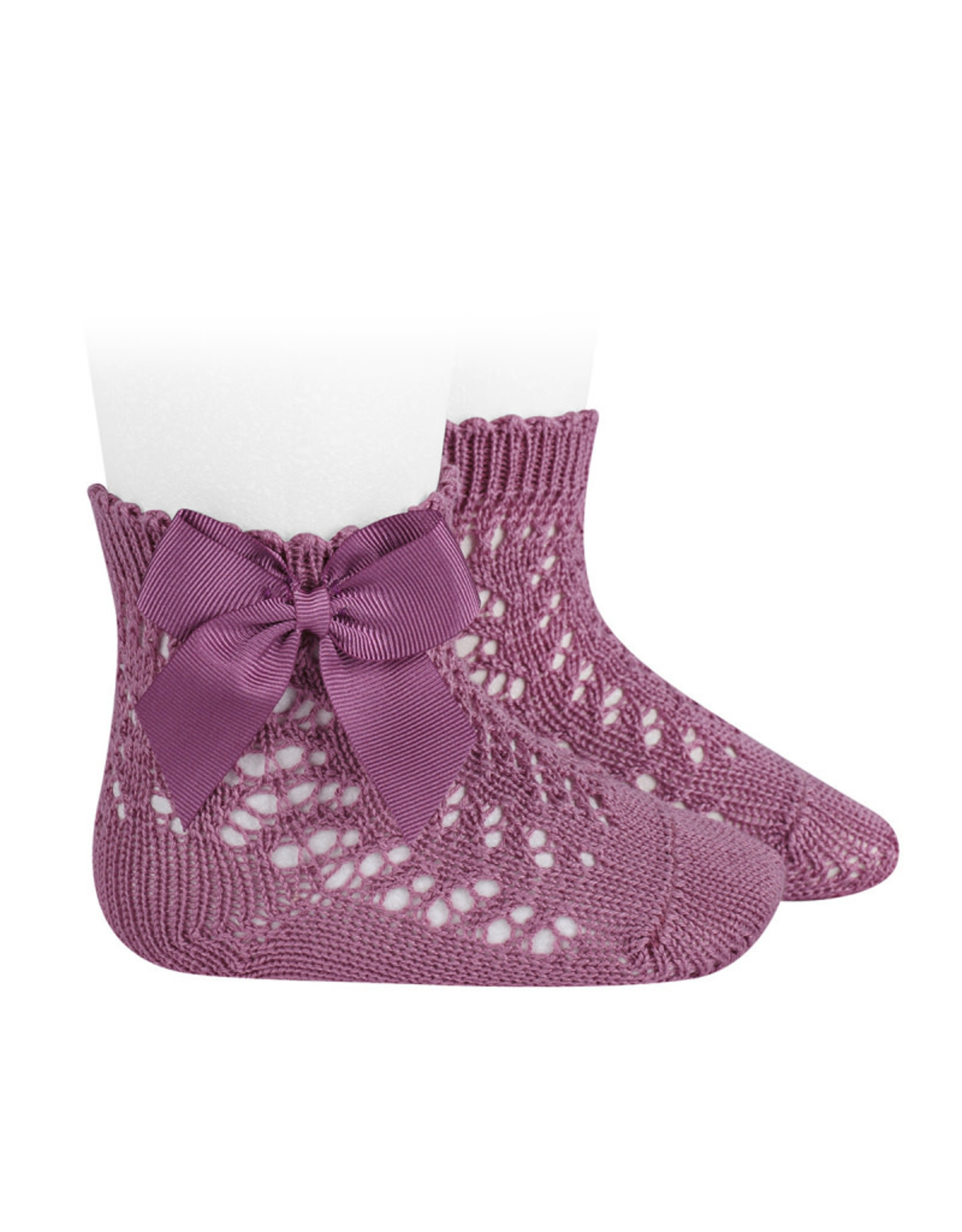 CONDOR Cassis Openwork Short Socks with Bow