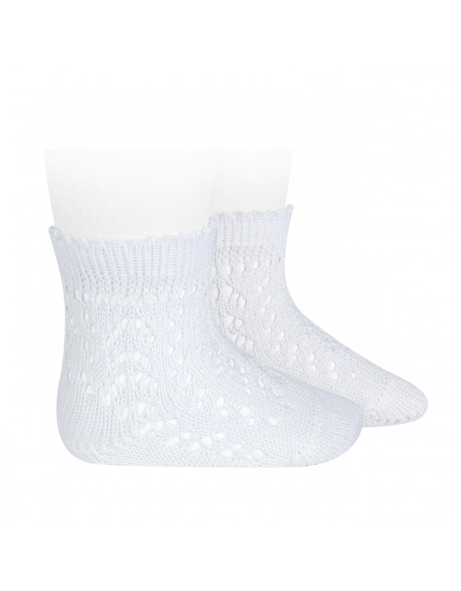 CONDOR White Openwork Short Socks