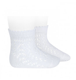CONDOR White Openwork Short Socks