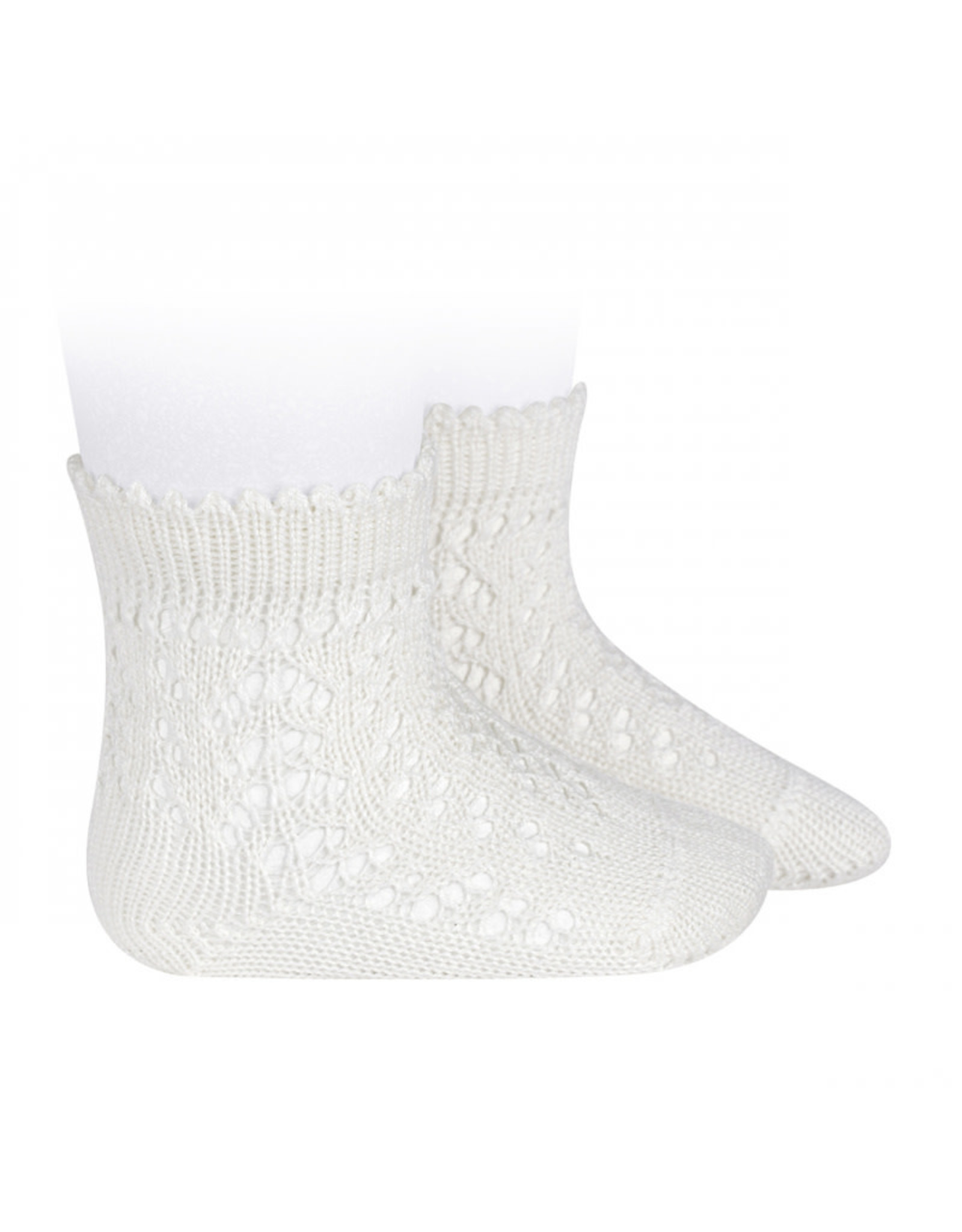 CONDOR Cream Openwork Short Socks