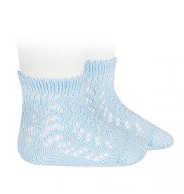 CONDOR Baby Blue Openwork Short Socks