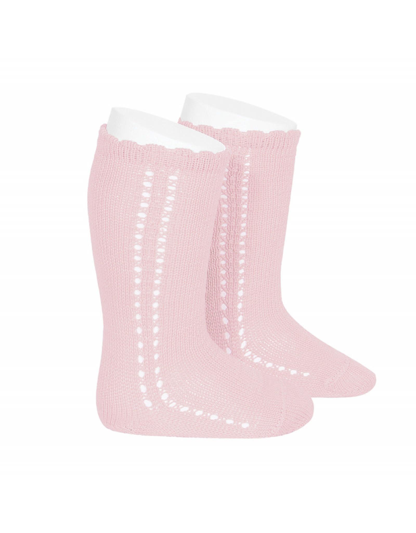 CONDOR Pink Side Openwork Socks