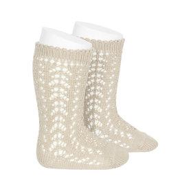CONDOR Linen Openwork Knee Socks