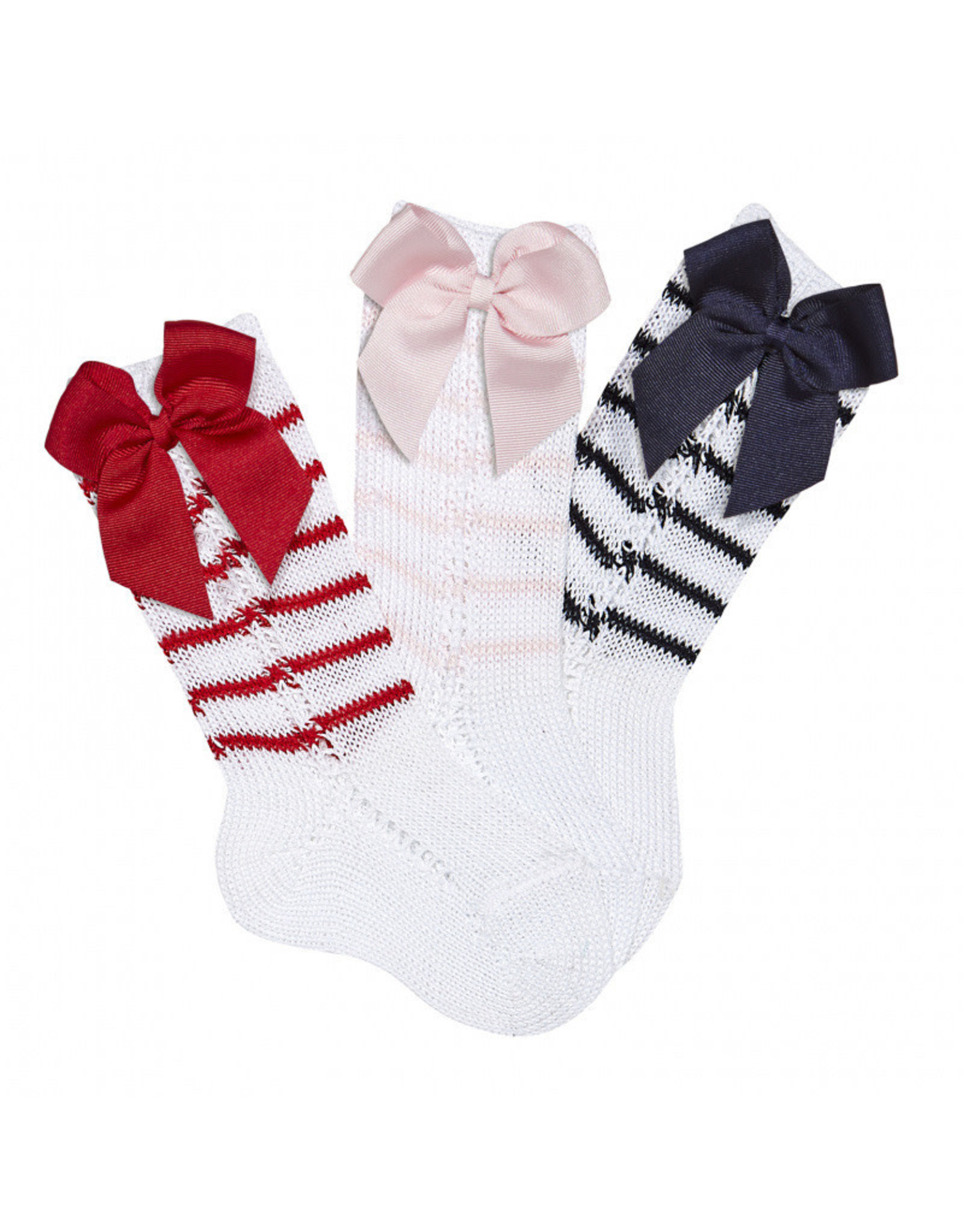 CONDOR Side Openwork Socks with Bow