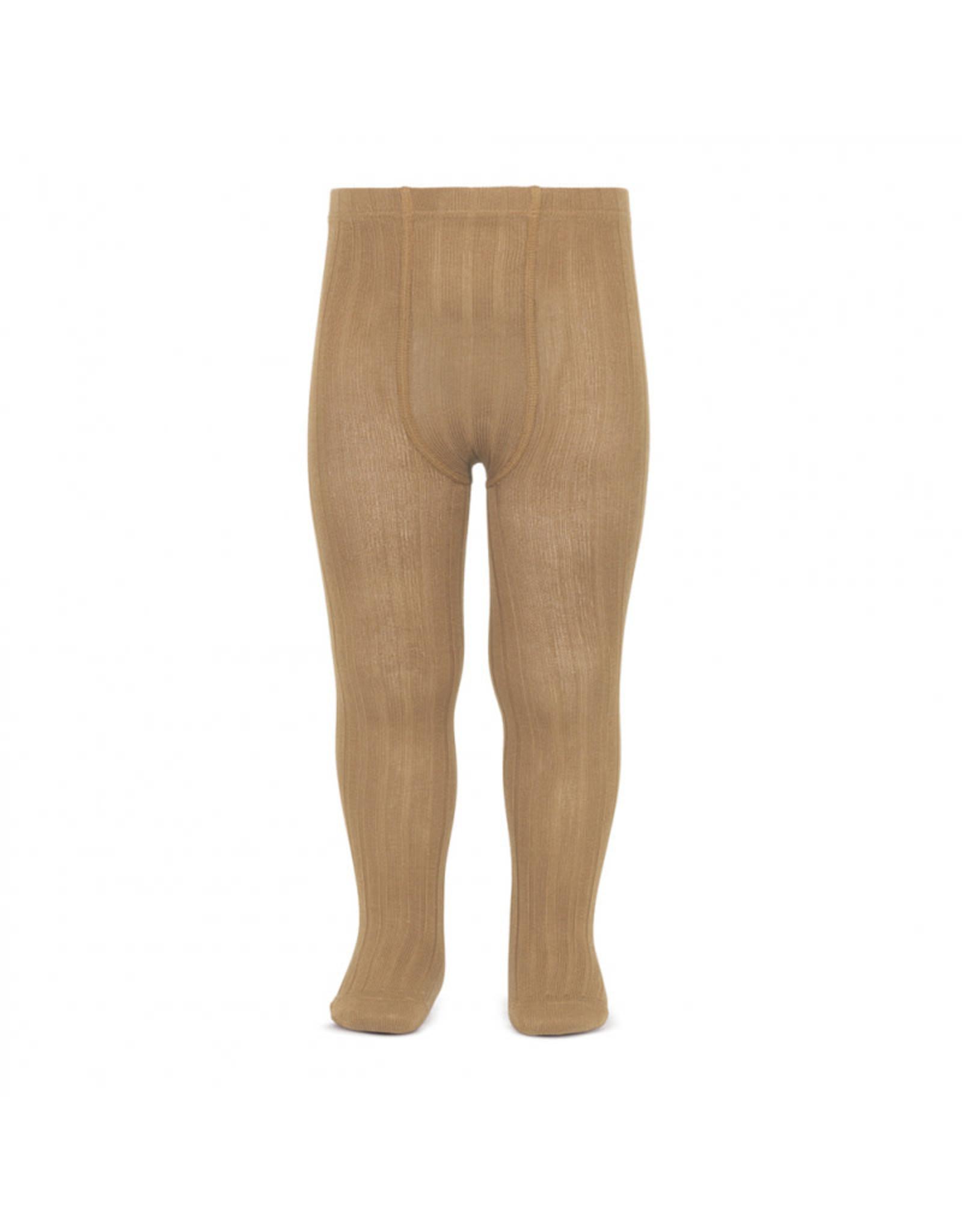 CONDOR Camel Ribbed Tights