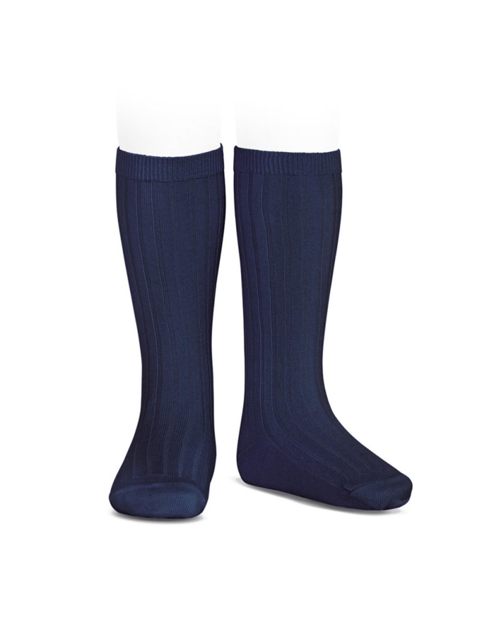 CONDOR Navy Ribbed Knee Socks