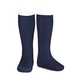 CONDOR Navy Ribbed Knee Socks