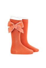 CONDOR Mani Velvet Bow Socks