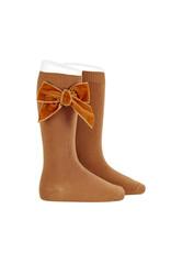 CONDOR Cinnamon Velvet Bow Socks