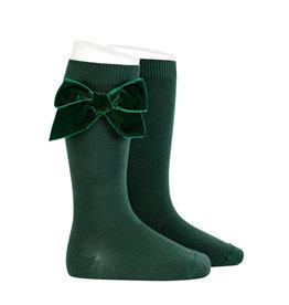 CONDOR Pine Velvet Bow Socks