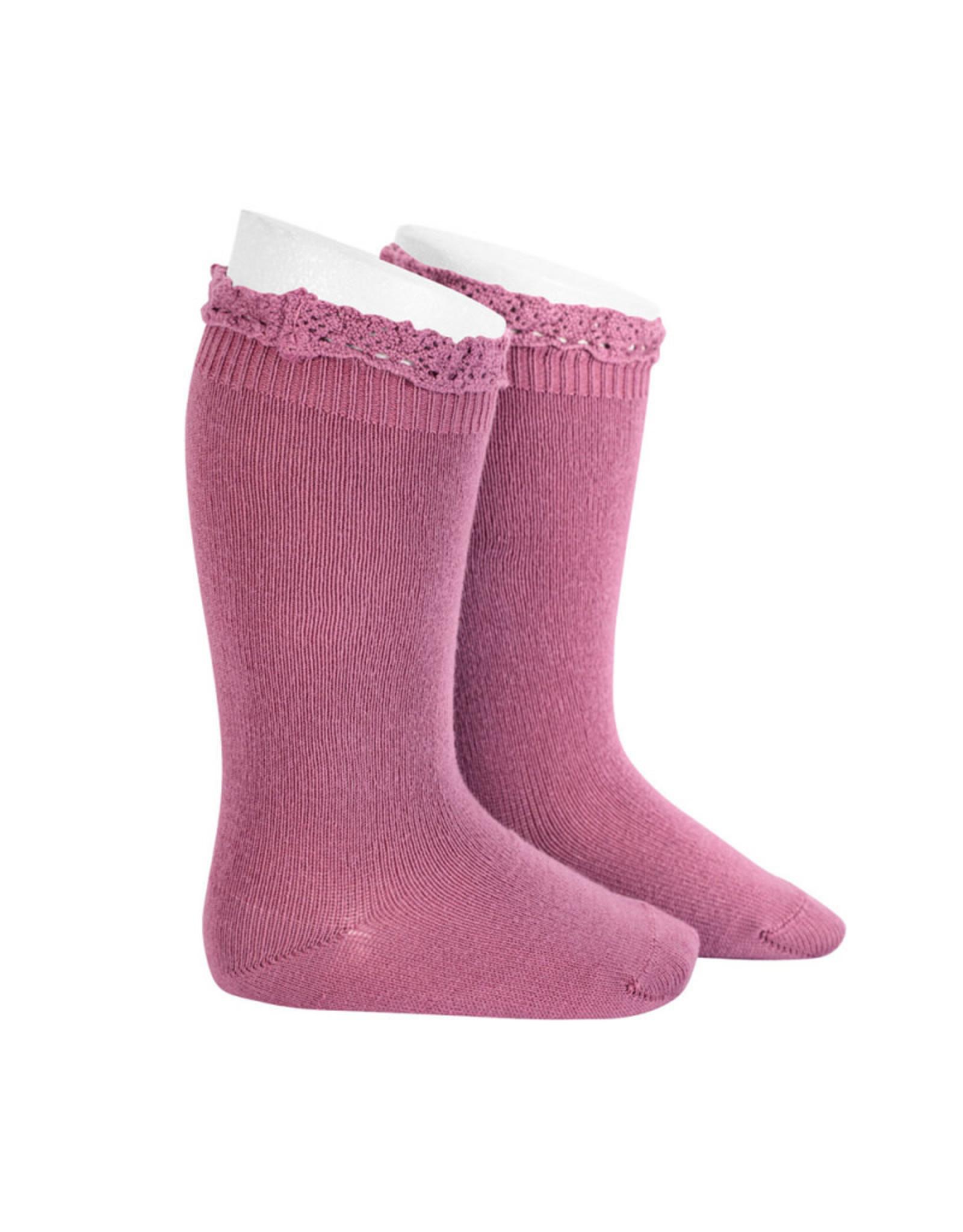 CONDOR Cassis Lace Edging Knee Socks