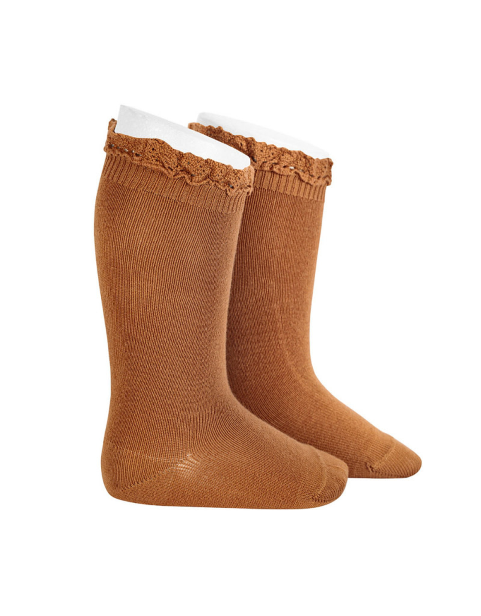 CONDOR Cinnamon Lace Edging Knee Socks