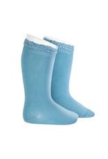 CONDOR Cloud Lace Edging Knee Socks