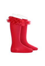 CONDOR Red Tulle Knee Socks