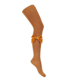 CONDOR Cinnamon Velvet Bow Tights