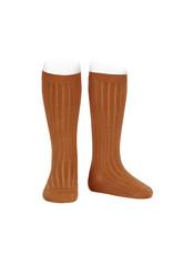 CONDOR Cinnamon Ribbed Knee Socks