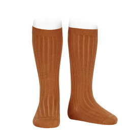 CONDOR Cinnamon Ribbed Knee Socks