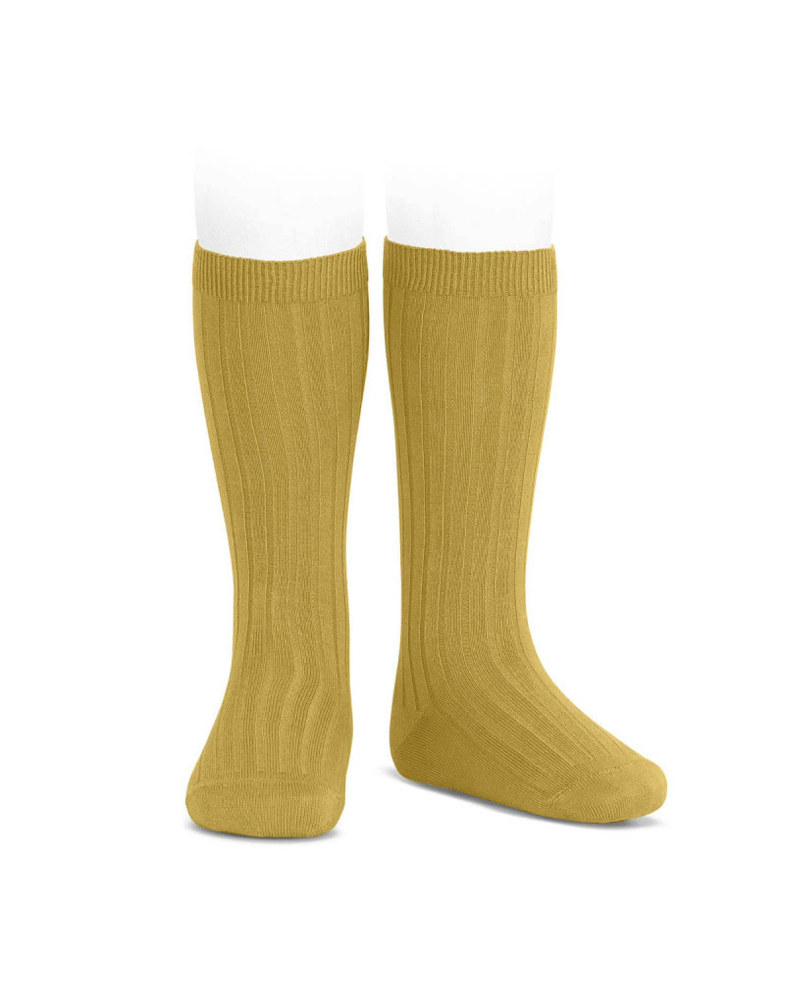 CONDOR Mustard Ribbed Knee Socks