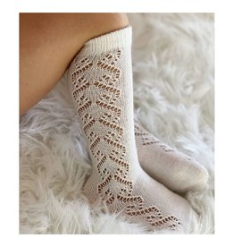 CONDOR Beige Wool Side Openwork Socks