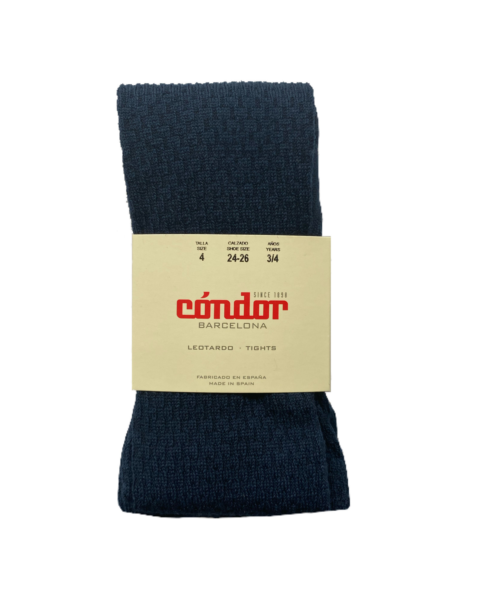 CONDOR Navy Wool Patterned Tights