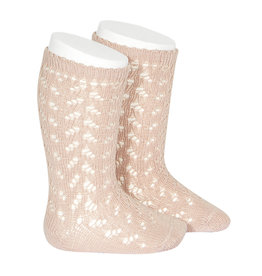 CONDOR Old Rose Warm Openwork Socks