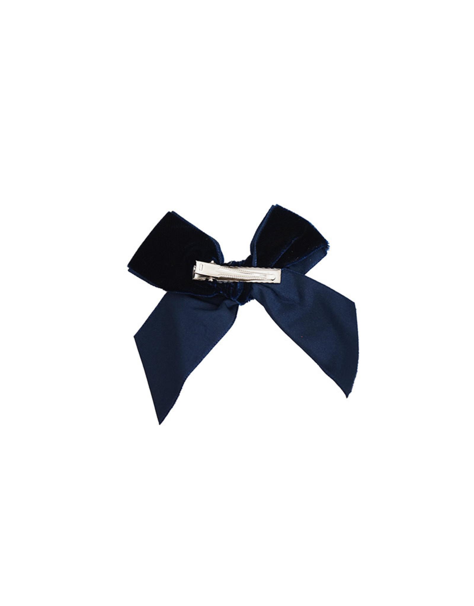 CONDOR Navy Velvet Hair Bow