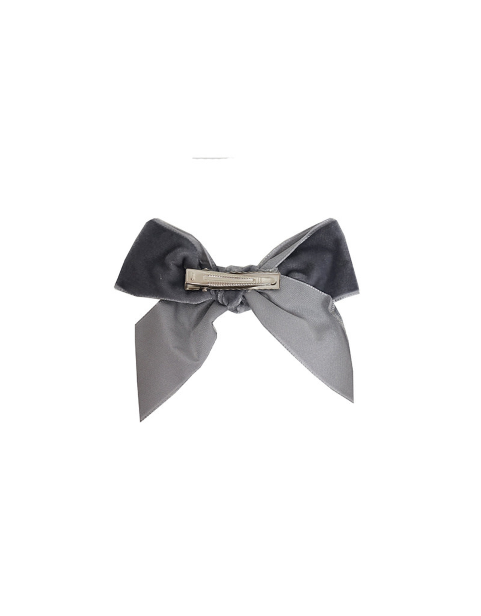 CONDOR Grey Velvet Hair Bow