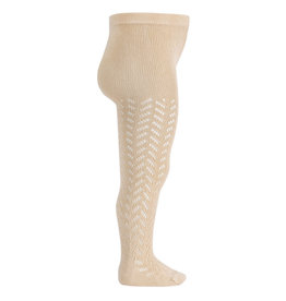 CONDOR Linen Warm Openwork Tights