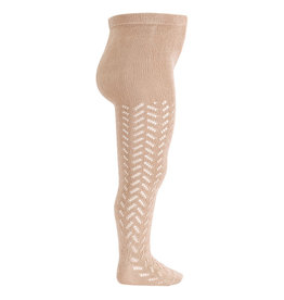 CONDOR Stone Warm Openwork Tights