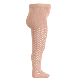CONDOR Old Rose Warm Openwork Tights