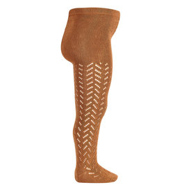 CONDOR Cinnamon Warm Openwork Tights