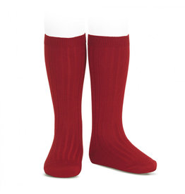 CONDOR Cherry Ribbed Knee Socks
