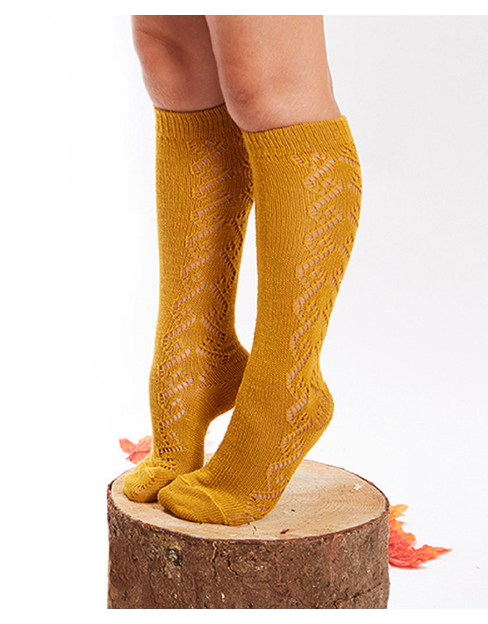 CONDOR Curry Wool Side Openwork Socks