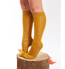 CONDOR Curry Wool Side Openwork Socks