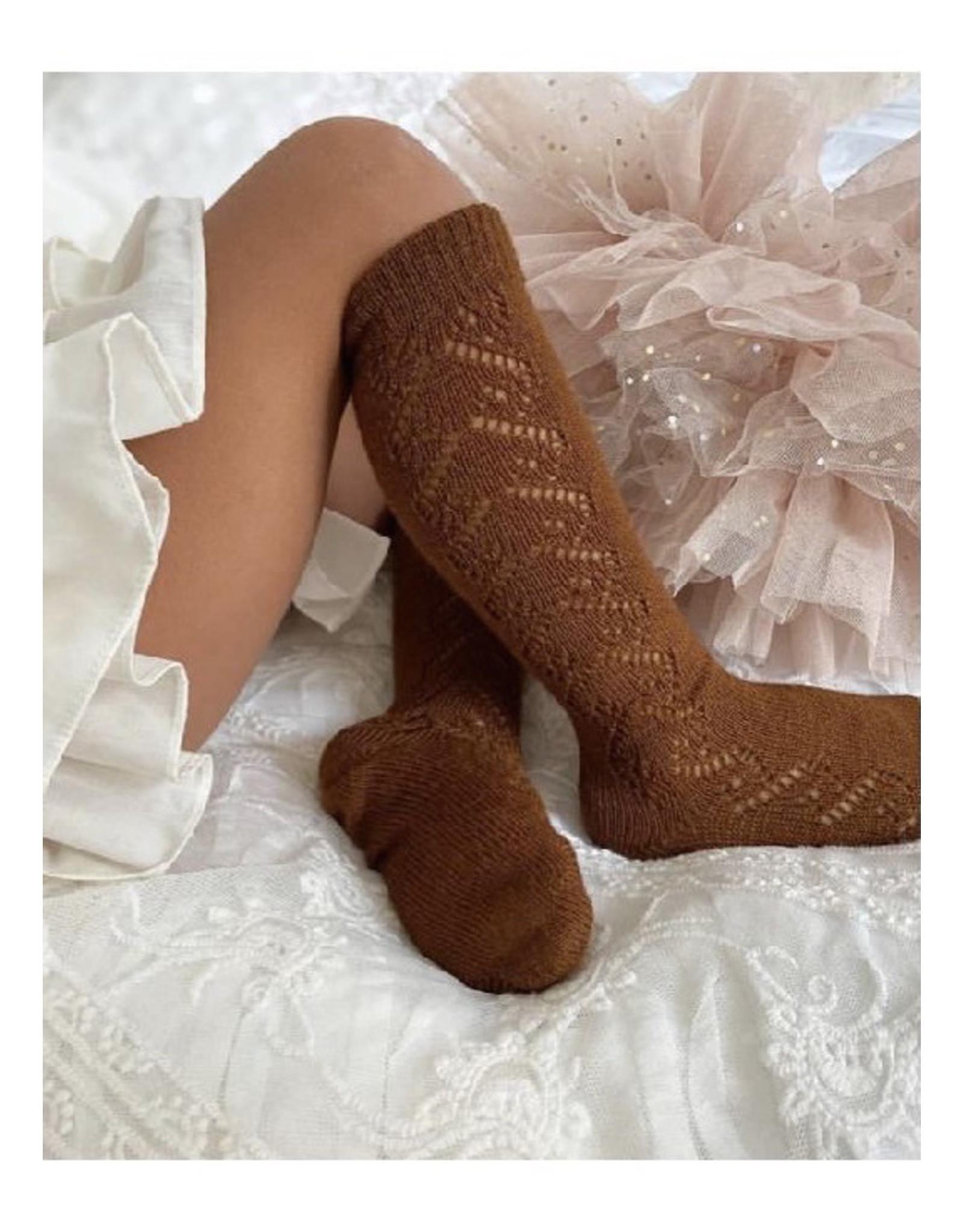 CONDOR Cinnamon Wool Side Openwork Socks